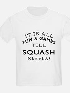 Squash Fun And Games Designs T-Shirt