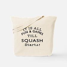 Squash Fun And Games Designs Tote Bag