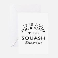 Squash Fun And Games Designs Greeting Card