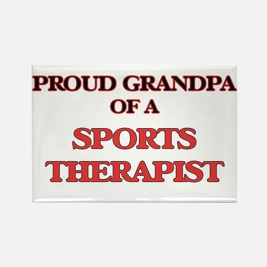 Proud Grandpa of a Sports Therapist Magnets