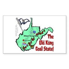 WV-Coal! Rectangle Decal