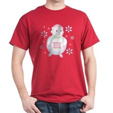 Pretty in Pink Snowman T-Shirt