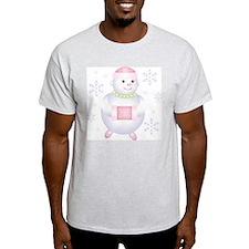 Pretty in Pink Snowman T-Shirt