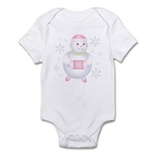 Pretty in Pink Snowman Infant Bodysuit