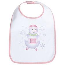 Pretty in Pink Snowman Bib