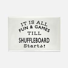 Shuffleboard Fun And Games Design Rectangle Magnet