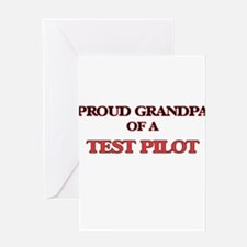 Proud Grandpa of a Test Pilot Greeting Cards