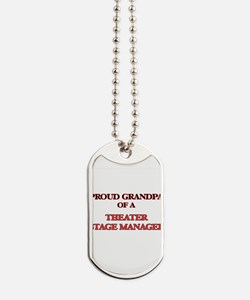 Proud Grandpa of a Theater Stage Manager Dog Tags