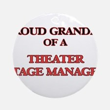 Proud Grandpa of a Theater Stage Ma Round Ornament