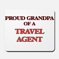 Proud Grandpa of a Travel Agent Mousepad