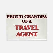 Proud Grandpa of a Travel Agent Magnets