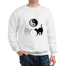 YIN YANG CATS PAWS Sweatshirt