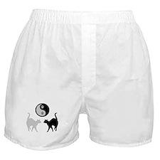 YIN YANG CATS PAWS Boxer Shorts