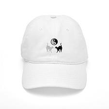 YIN YANG CATS PAWS Baseball Cap