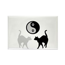 YIN YANG CATS PAWS Rectangle Magnet