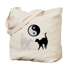 YIN YANG CATS PAWS Tote Bag