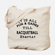 Racqetball Fun And Games Designs Tote Bag