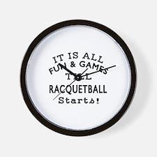 Racqetball Fun And Games Designs Wall Clock