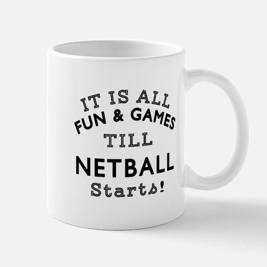 Netball Fun And Games Designs Mug