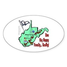 WV-Family! Oval Decal