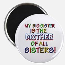 "Funny big sister family des 2.25"" Magnet (10 pack)"