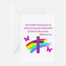 HEBREWS 11:1 Greeting Card