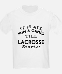 Lacrosse Fun And Games Designs T-Shirt