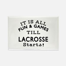 Lacrosse Fun And Games Designs Rectangle Magnet