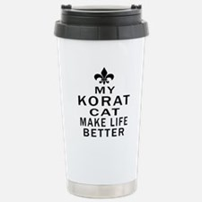 Korat Cat Make Life Bet Travel Mug