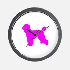 Poodle Pink 1C Wall Clock