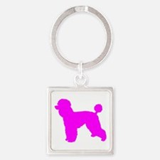 Poodle Pink 1C Keychains