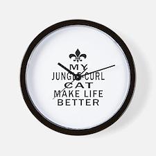 Jungle-curl Cat Make Life Better Wall Clock