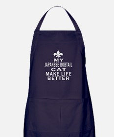 Japanese Bobtail Cat Make Life Better Apron (dark)