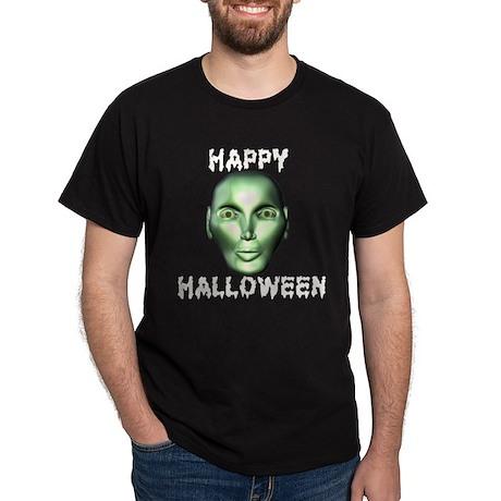 Eerie Alien Halloween Dark T-Shirt
