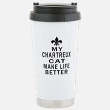 Chartreux Cat Make Life Travel Mug