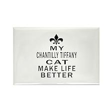 Chantilly Tiffany Cat Make Life B Rectangle Magnet