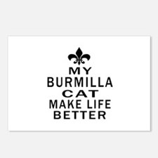 Burmilla Cat Make Life Be Postcards (Package of 8)