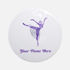 Personalized Ballet Round Ornament