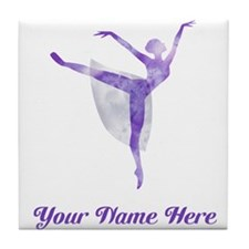 Personalized Ballet Tile Coaster