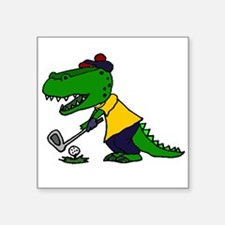 Alligator Playing Golf Sticker