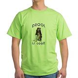 Basset hounds Green T-Shirt