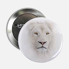 "White Lion Head 2.25"" Button"