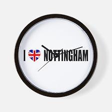 I Love Nottingham Wall Clock