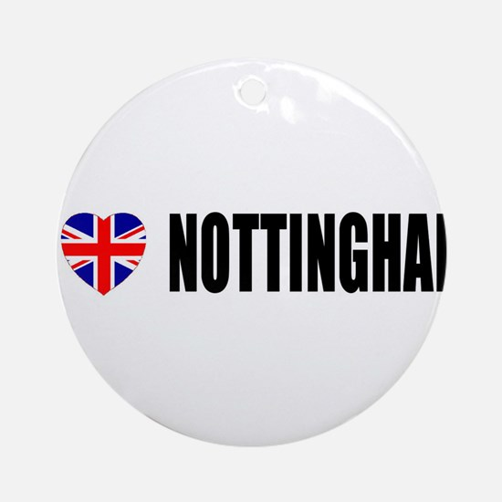 I Love Nottingham Ornament (Round)