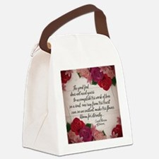 Bloom for Eternity Canvas Lunch Bag