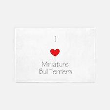 I Love Miniature Bull Terriers 4' X 6' Rug