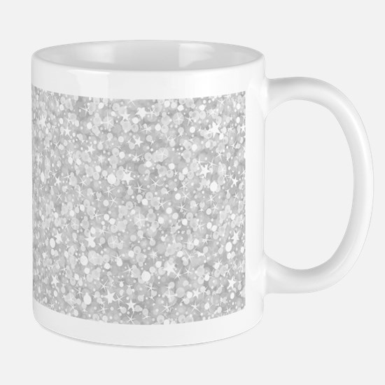 Silver Gray Glitter Sparkles Mugs