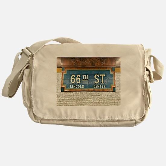 Lincoln Center Subway Station Messenger Bag