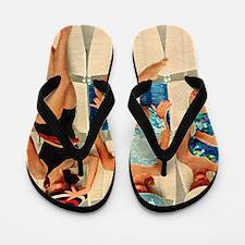 Retro Sunbathers Trio Flip Flops