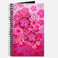 Pink Flowers And Honu Turtles Journal